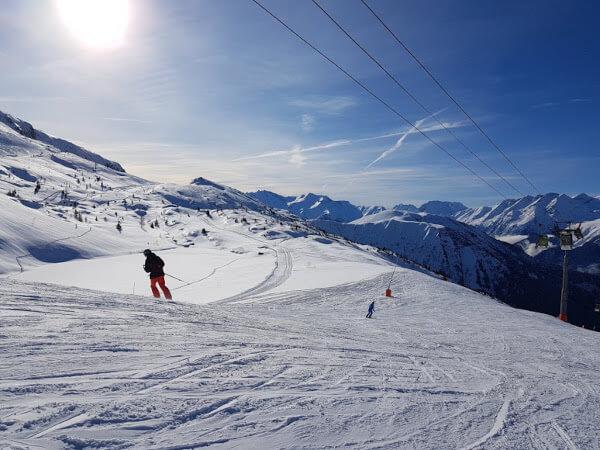 Skigebiete Frankreich - Vaujany in den französischen Alpen